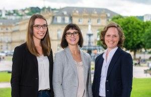Presse- und Öffentlichkeitsarbeit: Annegret Bey, Sandra Nörpel, Miriam Breitenstein (v.r.n.l.), © Thomas Niedermüller